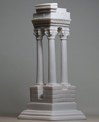 Ancient Greek Temple Ruins Corinthian Order Columns Alabaster Statue (Greek Corinthian Column)