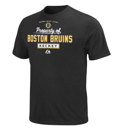 Nhl Mens Boston Bruins Property Of Black Short Sleeve Basic Tee By Majestic  Black  Small