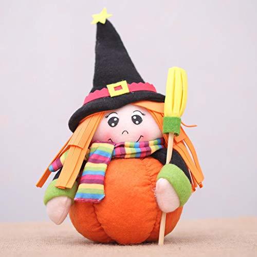 - Fiaya Halloween Cartoon Witch Pumpkin Cat Soft Plush Stuffed Doll Toys Home Ornament Decoration Kids Gift (A2)