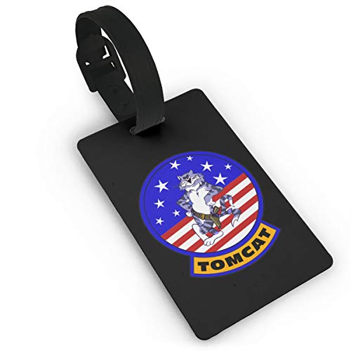 PLOR US Navy F-14 Tomcat Squadron Luggage Tags Funny Suitcase Tags Novelty Travel Bag Labels