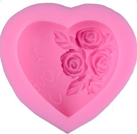 CAOLATOR Molde para Pastel de Silicona Forma de Flor Pudding Jelly Mold Mini Bandeja para Pastel