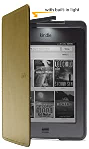 Amazon Kindle Touch Lighted Leather Cover, Olive Green (does not fit Kindle Paperwhite)