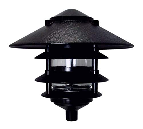 - Greenfield PL4TLBL Made in USA w/Large Top-Black Weatherproof 4-Tier Pathlight