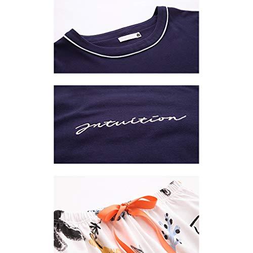 Conjunto Sueltos A Domicilio Algodón Manga Mujer Para Larga Pijamas Size 1 Redondo 1 De L Conjuntos color Servicio Cuello OPqxRqE4w
