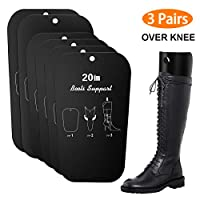 Boot Shaper Form Inserts, Only One Selling Super Tall Support for Over Knee Boots on the Market, 3 Pairs(6 Sheets), 20/22 inch