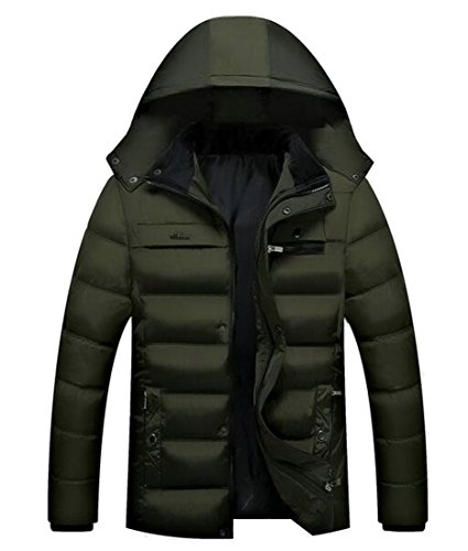 Jacket Winter UK Puffer Thicken Mens Hooded Full Down Coats Zip 2 today 7fqz0q