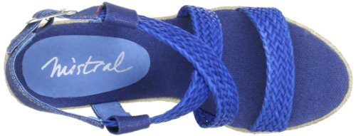 Mistral Lady Sugar 23143 - Sandalias de cuero para mujer Azul (Blau (blue 103))