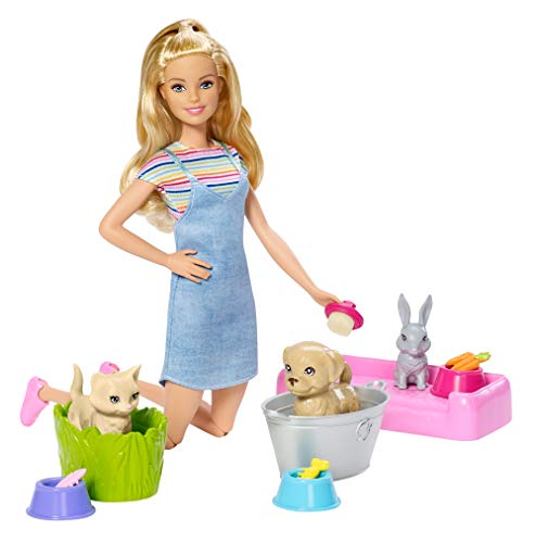 Barbie Play 'N' Wash Pets Doll & Playset, Multicolor from Barbie