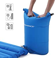Camping Cloth Cover Hiking SONGMICS Ultra-Light Sleeping Pad Inflatable Stuff Sack Inflatable Camping Mat with Built-in Pillow 195 x 65 x 9 cm Portable Air Mattress for Travel
