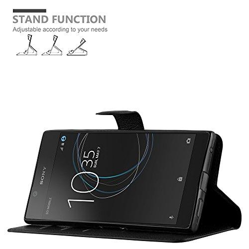 Cadorabo - Funda >                                  Sony Xperia L1                                  < Book Style de Cuero Sintético en Diseño Libro