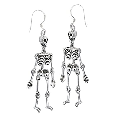 Hanging Movement Skeleton Earrings - Sterling Silver cWjkC