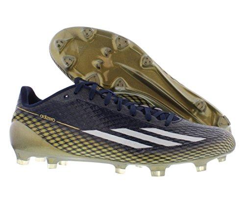 Adidas Adizero 5-stjernede 3,0 Fodbold Herresko Størrelse Flåde / Guld Metal