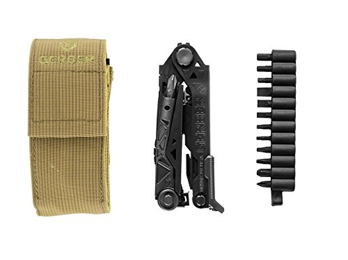 Gerber Gear 30-001425N Center-Drive Needle Nose Pliers Multitool, with M4 Bit Set, Coyote Brown Molle Sheath