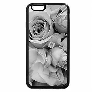 iPhone 6S Plus Case, iPhone 6 Plus Case (Black & White) - Lovely Roses!