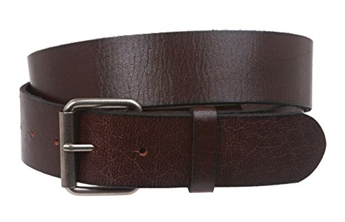 Vintage Genuine Soft Hand Oil-Tanned Leather Snap on Buckle Belt Size: M - 36 Color: Brown