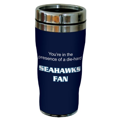 Tree-Free Greetings sg24135 Seahawks Football Fan Sip 'N Go Stainless Steel Lined Travel Tumbler, 16-Ounce