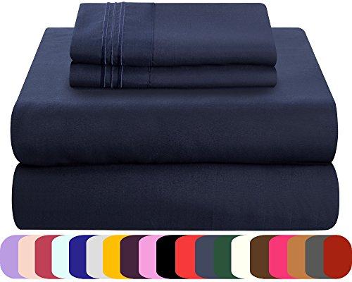 Mezzati Luxury Bed linen Set - very soft and pleasant 1800 Prestige series - blown Microfiber Bedding (Blue, Twin XL)