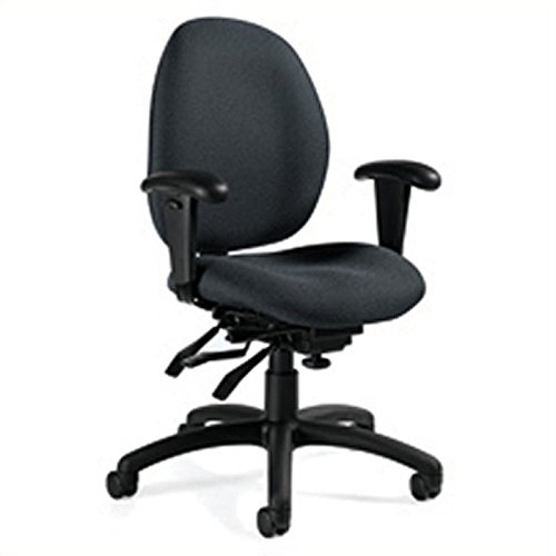 (Global Malaga Low Back Multi Tilter Office Chair in Graphite)