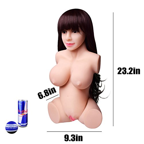 Super Realistic Lifesize Real Woman Torso Love Doles for Men Male Adult Toy with Wig & 3 Entries Holes Love Traing Relax by Sweetie (Image #6)