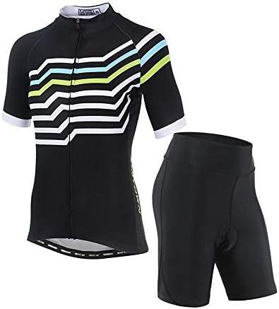 夏の新しいスポーツサイクリングパンツ女性乗馬スーツ半袖スーツ自転車スーツ