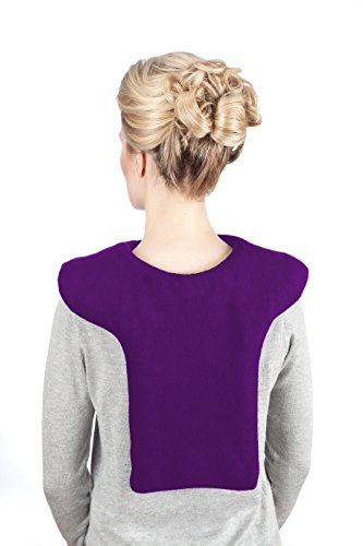 Sunny Bay Microwave Shoulder and Upper Back Heat Wrap, Heat Therapy Pad for Sore Neck & Shoulder Muscle Pain Relief - Thermal, Reusable, Non Electric Hot Pack Pads or Cold Compress, Large, Purple