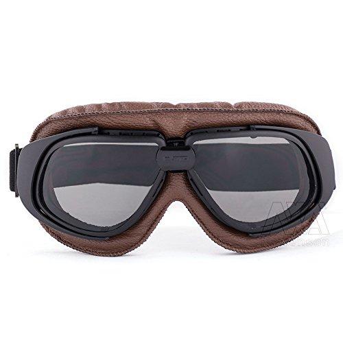 New Style Motorcycle Retro Vintage Aviator Pilot Bikes Racing Goggles Glasses (Motorcycles Vintage Racing)