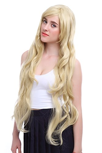 Seeu Cosplay Costumes (Nuoqi Sweet Anime Girls Blonde Human Hairs Vocaloid Cosplay Party Wigs)