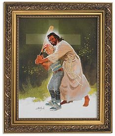 US Gifts Zdinak: Batting for Christ Series William Zdinak Gold Finish Frame