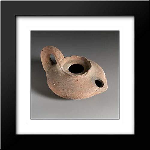 Hellenistic Period - 15x15 Framed Museum Art Print- Terracotta Oil lamp