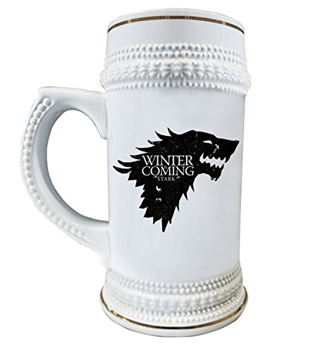 Game of Thrones Beer Stein | Beer Mug | Winter is coming | Personilized House Stark Cup (Personilized Gifts)