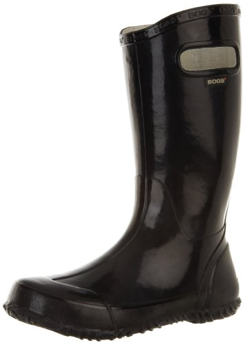 [Bogs Kids Solid Rain Boot (Toddler/Little Kid/Big Kid), Black, 13 M US Little Kid] (Boys Boots Sale)