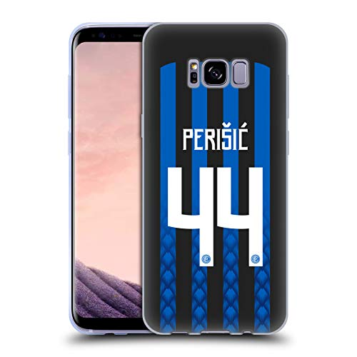 Official Inter Milan Ivan Perisic 2018/19 Players Home Kit Group 1 Soft Gel Case for Samsung Galaxy S8+ / S8 Plus