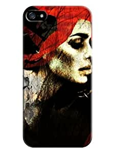 iphone 5/5s skin Soft Case Cover fits for Creative Collage Arts For Girl (Laser Technology) LarryToliver #3