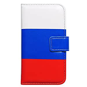 Bcov Russia Russian Flag Leather Wallet Cover Case For Samsung Galaxy S4 GS4