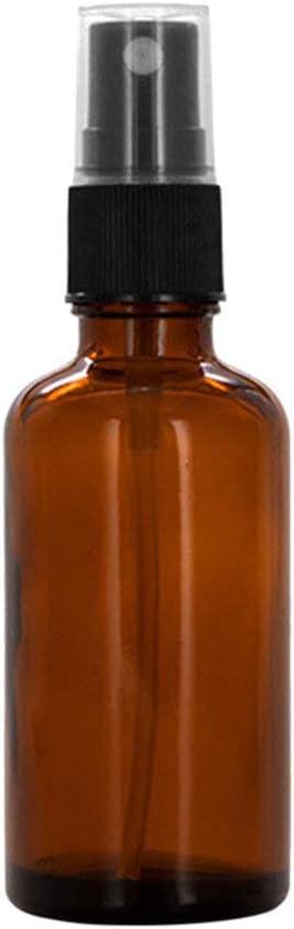 Geshiglobal - Botella de cristal, color ámbar, vacía, con pulverizador, para aceites esenciales (10/15/20/30/50/100ml)