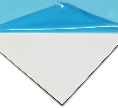 """Online Metal Supply White Painted Aluminum Sheet, 0.040"""" x 12"""" x 24"""""""