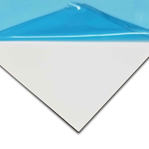 Online Metal Supply White Painted Aluminum Sheet, 0.040
