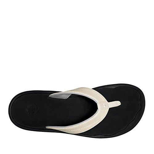 OluKai 'Ohana Sandal - Women's Platinum/Black 9