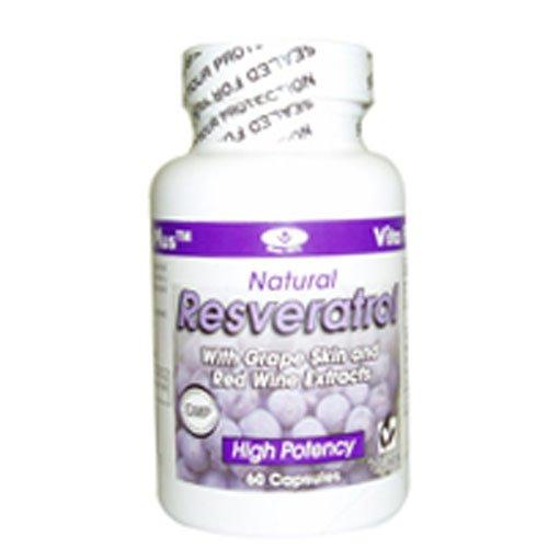 RESVERATROL By Vita Plus, 60 Capsules (pack of 4)