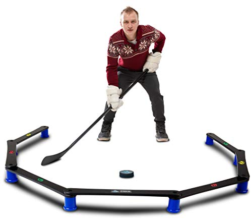 Stick Low Hockey - Hockey Revolution Stickhandling Training Aid, Equipment for Puck Control, Reaction Time and Coordination - MY ENEMY PRO