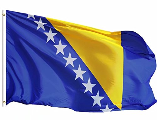 DFLIVE Bosnia and Herzegovina Country Flag 3x5 ft Printed Polyester Fly Bosnia and Herzegovina National Flag Banner with Brass Grommets ... ()