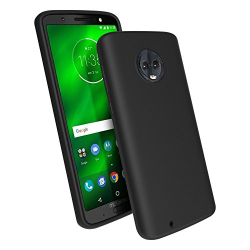 Motorola Moto G6 Case, TopACE [Shock Absorption] Flexible TPU Soft Skin Silicone Cover for Motorola Moto G6 (Black)
