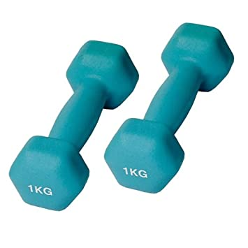 cardiofi tness mancuernas 1 kg, Azul, pesas de Juego: Amazon.es: Deportes y aire libre
