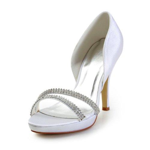 Jia Jia Wedding 37041 Hochzeitsschuhe Brautschuhe Damen Pumps Weiß
