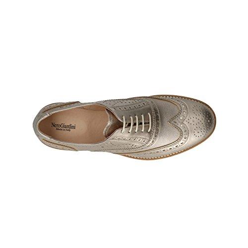 Lacets Marron Marron Chaussures P805031D Femme Pour de Giardini à Ville Nero P1YwAqzv