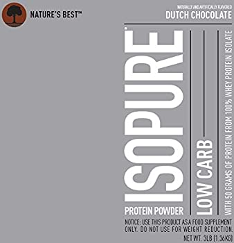 Isopure Low Carb Protein Powder, Whey Protein Isolate, Flavor: Dutch Chocolate, 3 Pounds (Packaging May Vary) 10