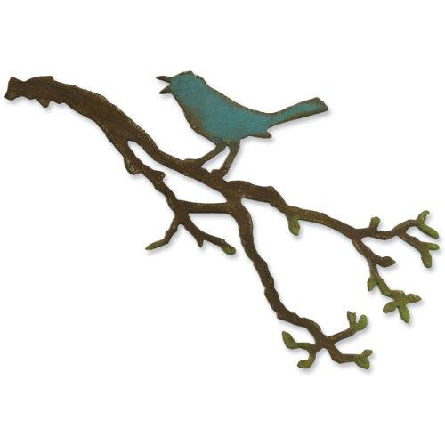 (Sizzix 657833 Bigz Die Bird Branch by Tim Holtz, Multicolor)