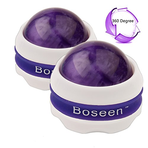 Ball Set Deluxe - Boseen Set of 2 Deluxe Massage Roller Ball-Massager for Sore Muscles, Joint Pain, Stiffness, Muscle Knots, Headache, and Pain Relief in Your Back, Neck, Shoulder, Hip, Leg, Knee, Foot, Arm and Hand