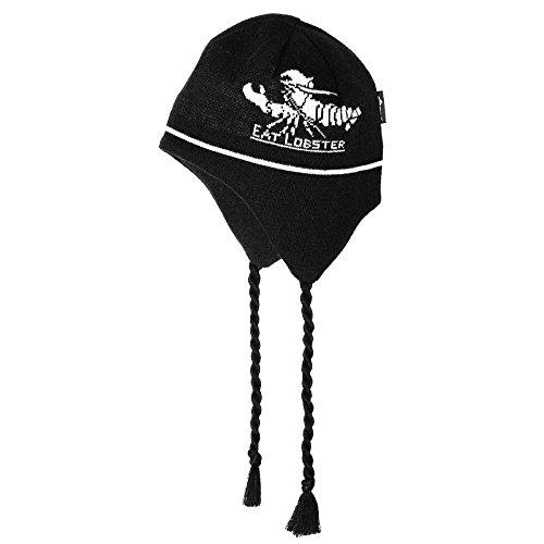 (Grunden's Men's Eat Lobster Flap Cap, Black, One Size)