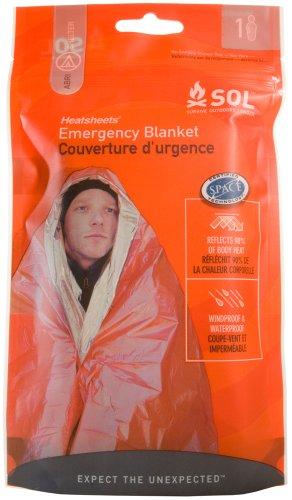 [지진 / 재해 재난 대비 용품] SOL (솔) 히트씨트 emergency (응급) blanket 블루/오렌지